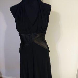 Dress Metaphor black with satin like sash